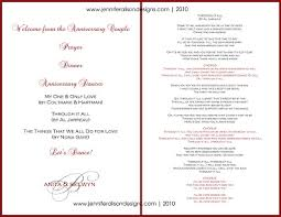 sle wedding programs outline wedding anniversary program outline 28 images lidija s