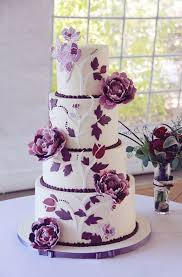 wedding cake fondant a four tier purple peony wedding cake brides