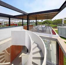 Rooftop Patio Design Extraordinary Spiral Staircase Winds Up To A Killer Rooftop Deck