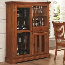 mission style china cabinet mission style bar cabinet in medium brown finish by coaster 100625