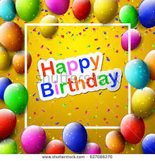 vector cute happy birthday greeting card stock vector 166520126