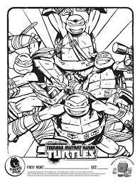 teenage mutant ninja turtle free coloring pages art coloring