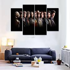 Wall Paintings For Living Room Online Cheap 2016 4 Panels Hd Doctor Who Posters Painting