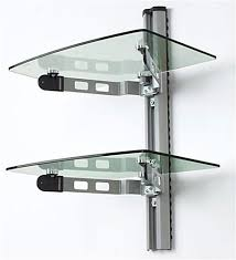 Glass Shelving Brackets by Wall Shelves Design Adjustable Wall Mounted Shelving For Garage