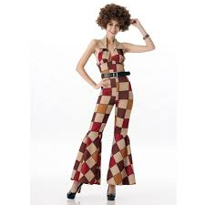 hippie jumpsuit maclover free shipping 60s 70s retro hippie disco costumes