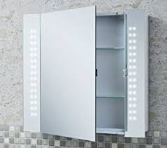 Bathroom Mirror Cabinet With Lights Led Illuminated Bathroom Demister Cabinet Mirror Functionalities Net