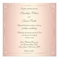 Blush Wedding Invitations Square Wedding Invitations U0026 Announcements Zazzle