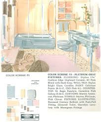 the color gray in vintage bathrooms from 1927 to 1962 retro