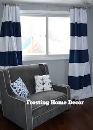 Nursery Curtains Sale Navy Striped Curtains Sale Custom Navy Blue Striped