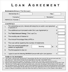 personal loan contractsloan agreement contract loan agreement