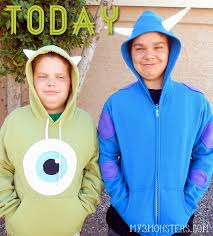 sully costume my 3 monsters diy mike sully hoodies monstersu