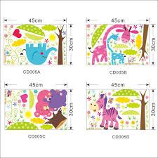 cartoon animal forest wall stickers 97hotdeals com