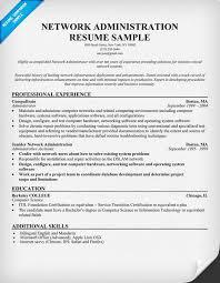 28 sample resume of network administrator 16 free sample
