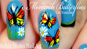 monarch butterfly nail art design spring butterflies nails