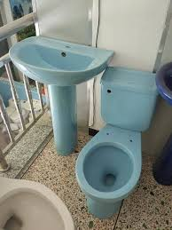 Pedestal Toilet China Blue Color Ceramic Twyford Toilet And Pedestal Basin Photos
