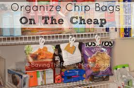 Cheap Organization Ideas Pantry Organization Ideas Organize Chip Bags On The Cheap