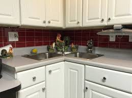 kitchen style red glass subway tile kitchen backsplash awesome