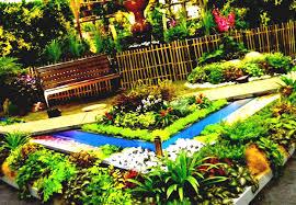 Simple Landscape Design by Landscape Design For Small Spaces Brick Fence White Pebbles