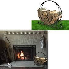 firewood rack fireplace log stand outdoor wood storage holder