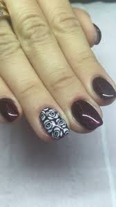 short acrylic nails with perfect match gel polish shade used is