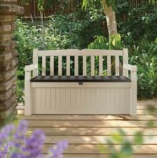 Garden Bench With Storage Outdoor Timber Storage Bench Seat Outdoor Storage Bench Seat For