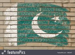 Pakistan Flag Picture Flags Flag Of Pakistan On Grunge Brick Wall Painted With Chalk
