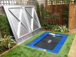wonderful in ground trampoline retaining wall safety in ground