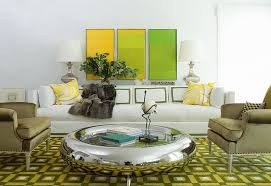 Color SchemeGreen And Yellow ECLECTIC LIVING HOME - Green and yellow color scheme living room