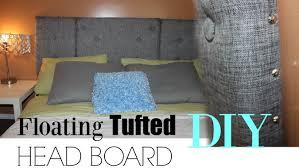 diy tufted grey headboard floating headboard goldenpoise