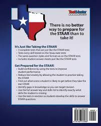 texas test prep practice test book staar math grade 4 aligned to
