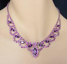 purple necklace images Purple jewelry purple necklace chandelier earrings set prom jpg
