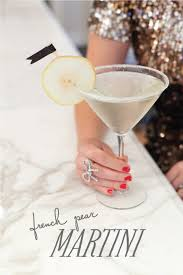 French Cocktail Party - the perfect holiday cocktail french pear martini created and