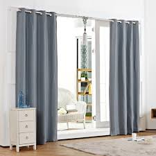 Blackout Curtains White Curtain Awesome Living Room Decor With Blackout Grommet Curtains