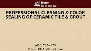 professional cleaning and color sealing of ceramic tile and grout