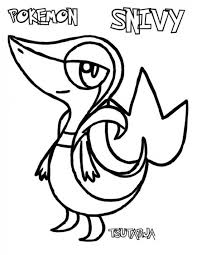 pokemon coloring pages of snivy pokemon snivy coloring pages pokemon coloring pages pinterest