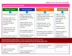 sponsorship marketing plan template business template