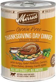 thanksgiving day menus merrick grain free thanksgiving day dinner canned dog food 13 2