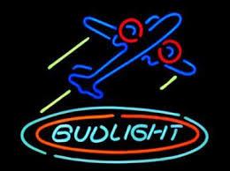 bud light neon signs for sale bud light airplane plane aircfaft neon sign custom handmade real