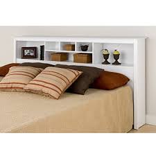 King Headboard by Prepac Monterey White King Storage Headboard