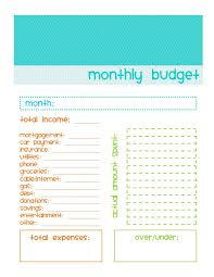 sample monthly budget template monthly household budget running