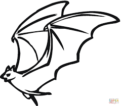 Flying Bat Coloring Page Free Printable Coloring Pages