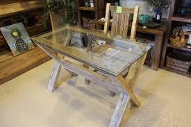 x base glass top desk