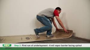 Installing Laminate Flooring Underlayment Eco Cork Foam Underlayment Installation Instructions Youtube