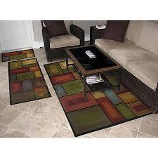 beautiful 3 piece kitchen rug sets image of set on decor