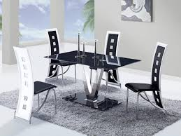 dining room table black global furniture usa 551 dining set black stainless steel legs