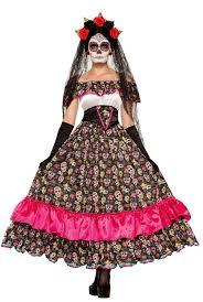 Dead Biker Halloween Costume Dead Spanish Lady Costume Los Muertos