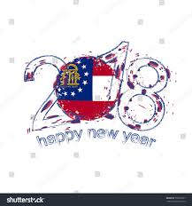 New Georgia Flag 2018 Happy New Year Georgia Us Stock Vector 750973501 Shutterstock