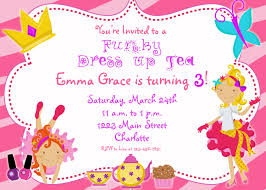 Birthday Invitation Card Kids Dress Up Party Birthday Invitation Funky Dress Up Glamour Party
