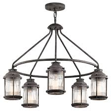 Kichler Lighting Hendrik by Kichler 49667wzc Ashland Bay Outdoor Pendant Light In Weathered