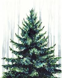 christmas tree in the woods christmas tree art christmas decor